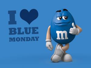 Social Catch Blue Monday voorbeeld door M&M's